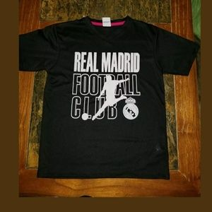 Youth Large Real Madrid T-Shirt Black And White